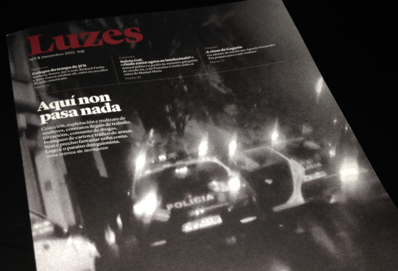 Portada do primeiro número da revista Luzes. A presentación transcorreu no Culturgal 2013