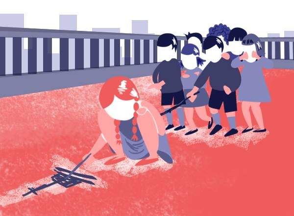 A ciudá. Ilustración de Olaya Naveira
