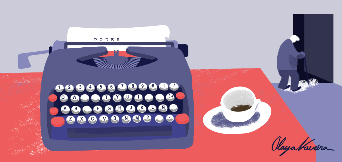 A independencia dos medios, un debate que cada vez máis acode a nosa mesa. Ilustración de Olaya Naveira