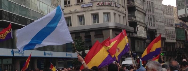 Tras a abdicación de Juan Carlos de Borbón, A Coruña, xunto con outras cidades de España, saíu a rúa pola III República